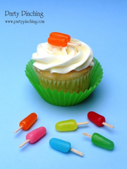 popsicle cupcake, summer cupcake, popsicle candy, cute popsicle, popsicle cupcake topper, summer treat, popsicle party, Mike and Ike