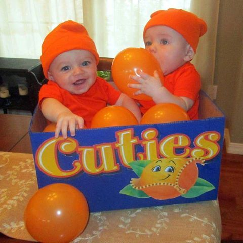California orange cuties, tangerines costume, kids costumes, diy baby infant toddler Halloween costume ideas