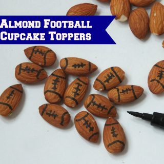 Easy Almond Football Cupcake Toppers