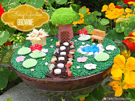 Fairy garden theme party woodland party ideas tutorial for for Craft ideas for fairy gardens