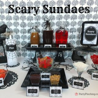 Halloween Scary Sundaes