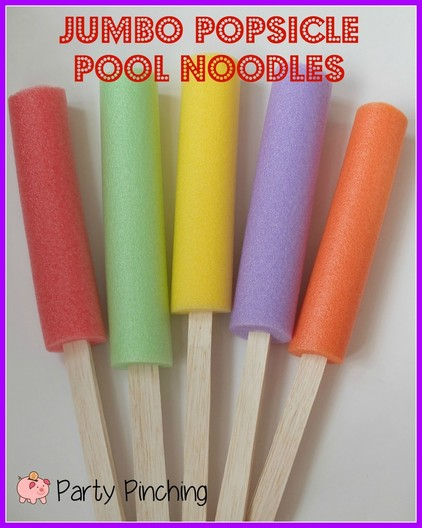 Popsicle Pool Noodles Party Pinching