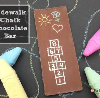 Sidewalk Chalk Chocolate Bar