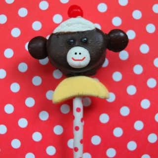 Sock Monkey Marshmallow Pop