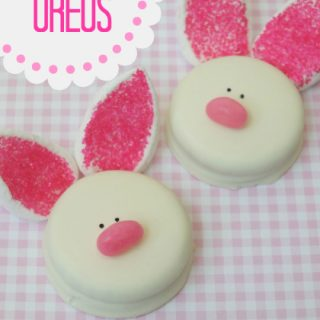 Easter Bunny Oreo cookies, cute food, fun food for kids, sweet treats, piglet cookies, Easter dessert brunch dinner ideas, Easter party kids ideas