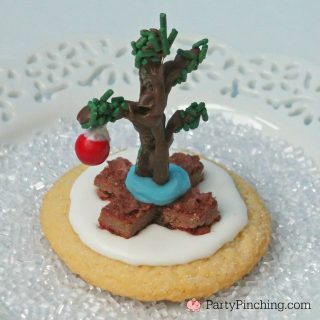 Charlie Brown Christmas Tree Cookie