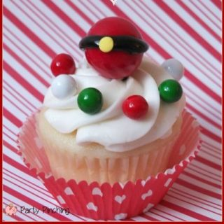 Santa Belly Gumball Cupcake Topper