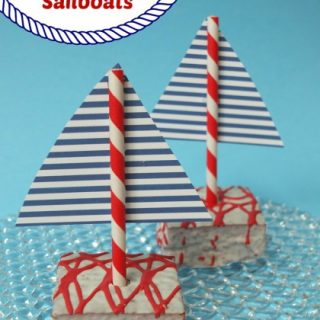 Red Velvet Sailboat Cakes