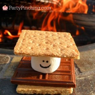 S'mores, S'more party ideas, campfire party, camping s'mores, cute summer s'mores, s'more dessert bar, creative s'mores, fun s'more recipes, fun food for kids, cute food, sweet treats