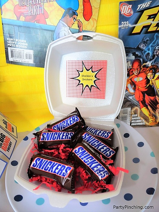 Big Bang Theory Party, sheldon's snickers