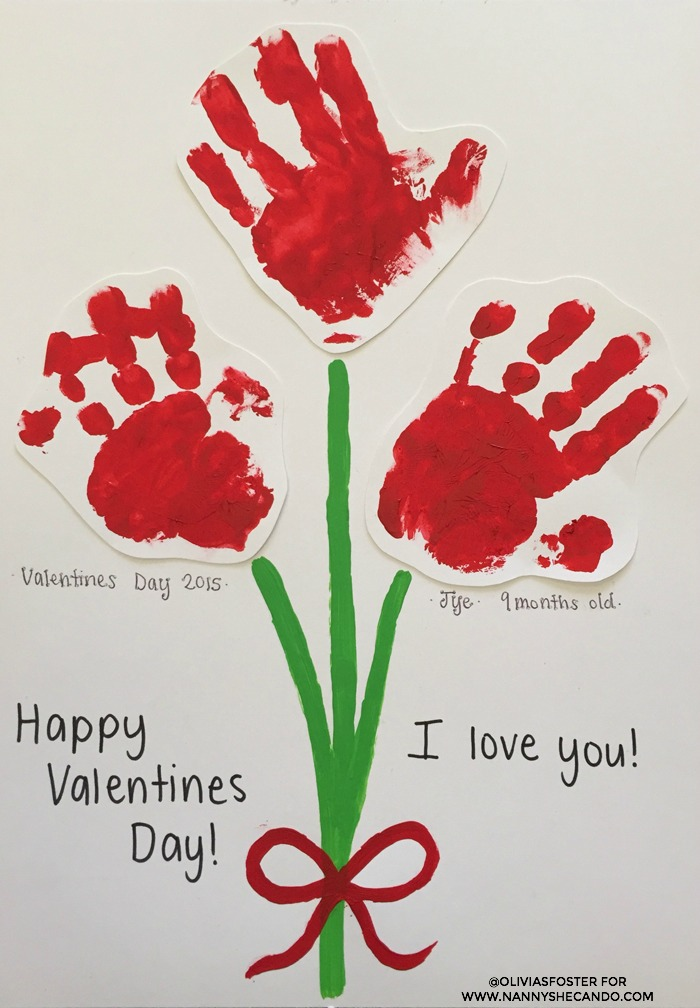 DIY handprint Valentine's Day idea for kids, class party craft Valentine's Day, cute craft ideas for kids