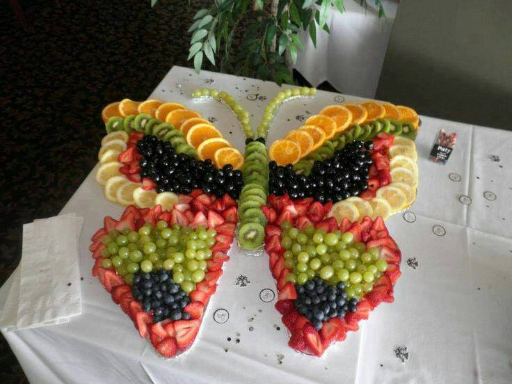 Butterfly fruit platter, pretty fruit platter for Spring or Easter, cute butterfly food ideas for theme parties
