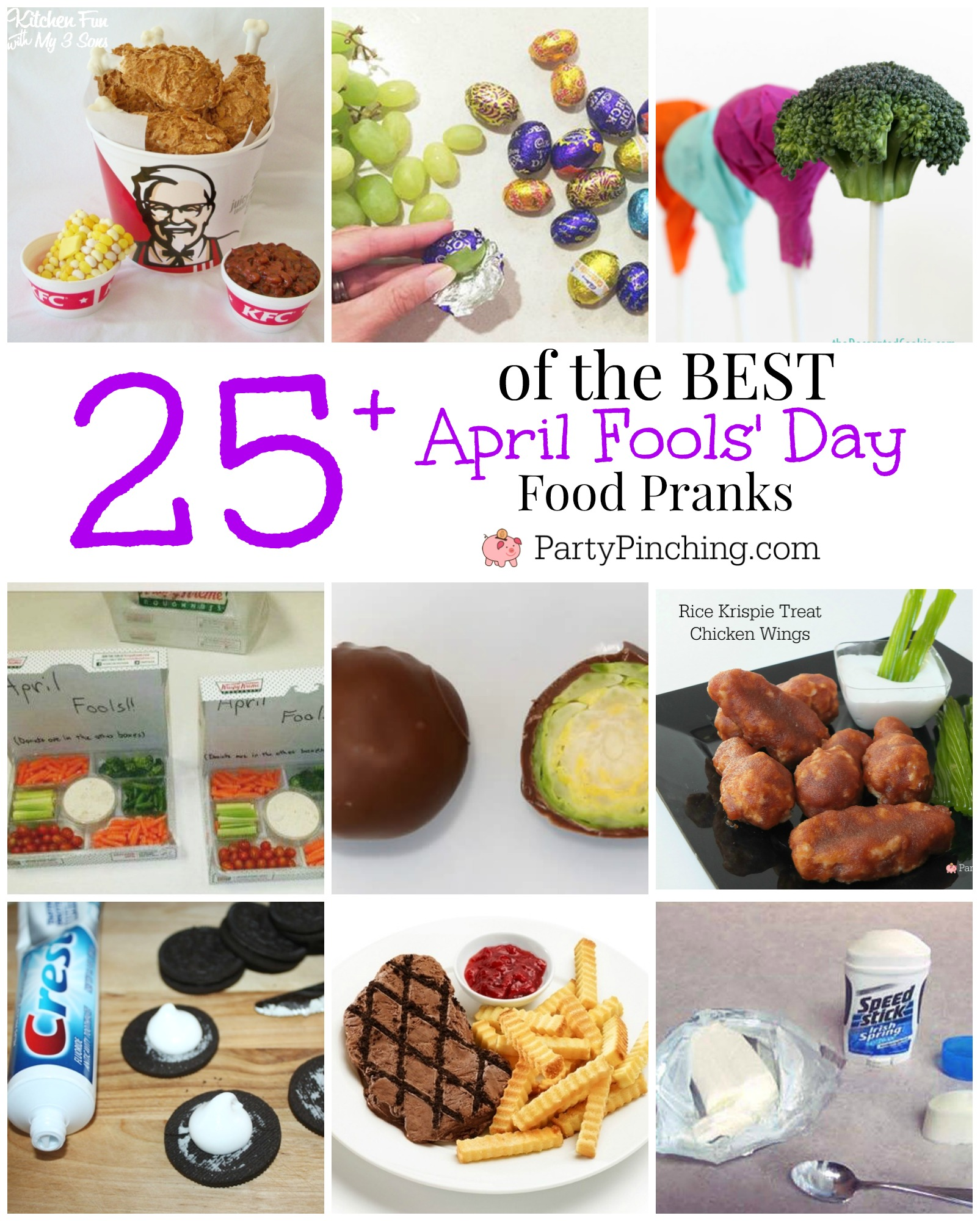 Best April Fools' Day food pranks, joke imposter food, fun easy trick food for friends family and kids