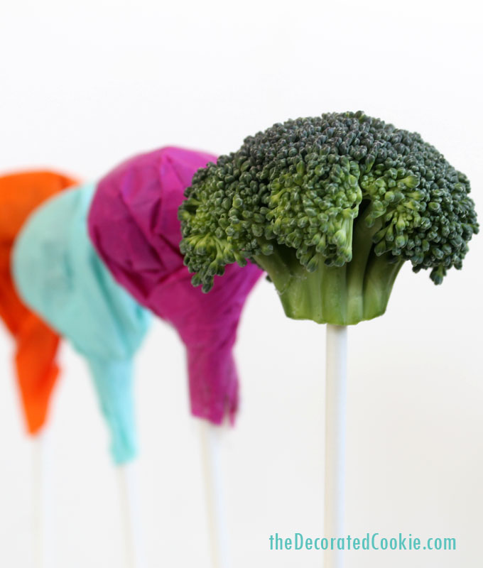 April Fools day food pranks broccoli lollipop suckers