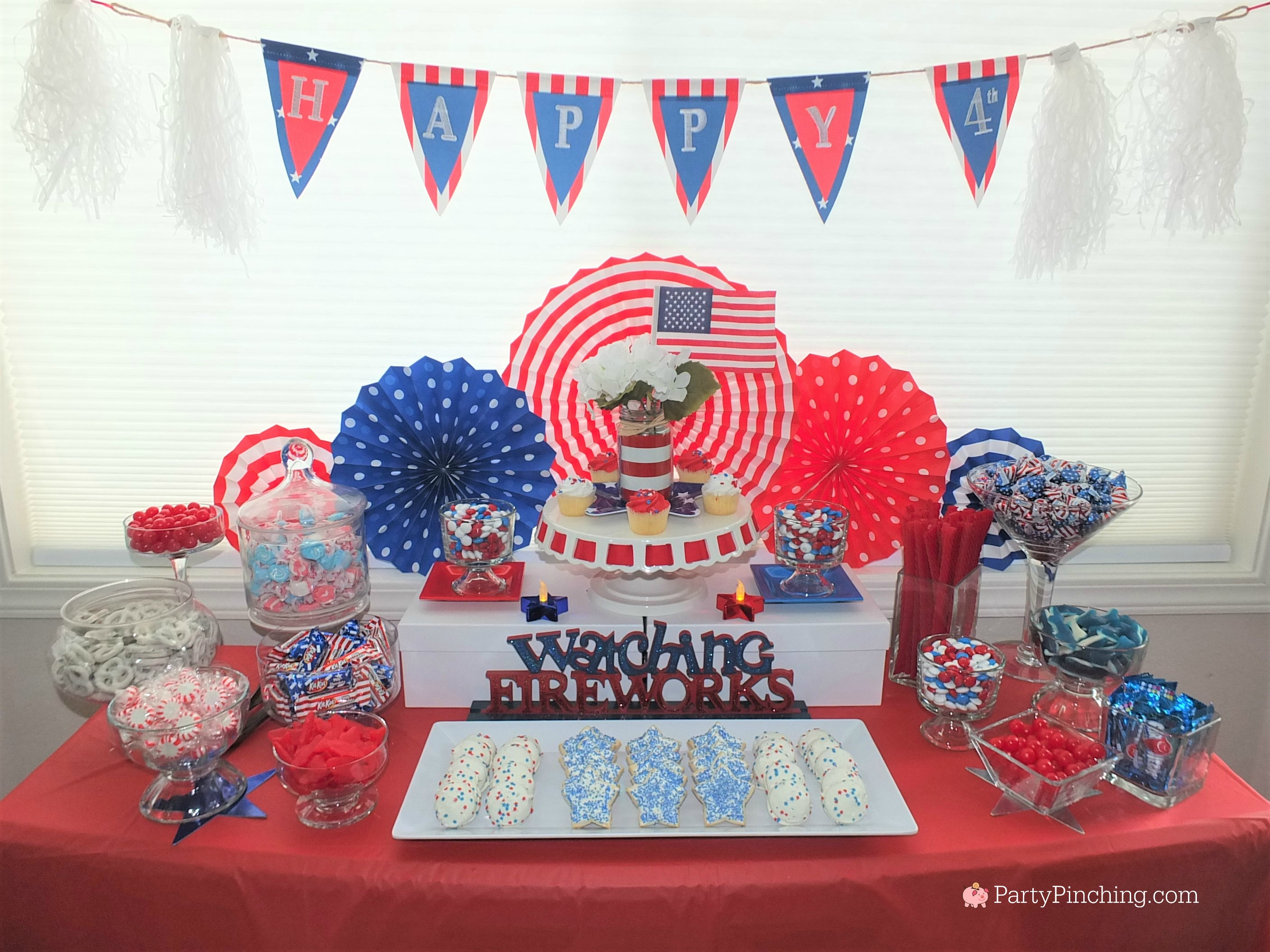 4th of july dessert ideas easy patriotic candy buffet for Fourth of july party dessert ideas