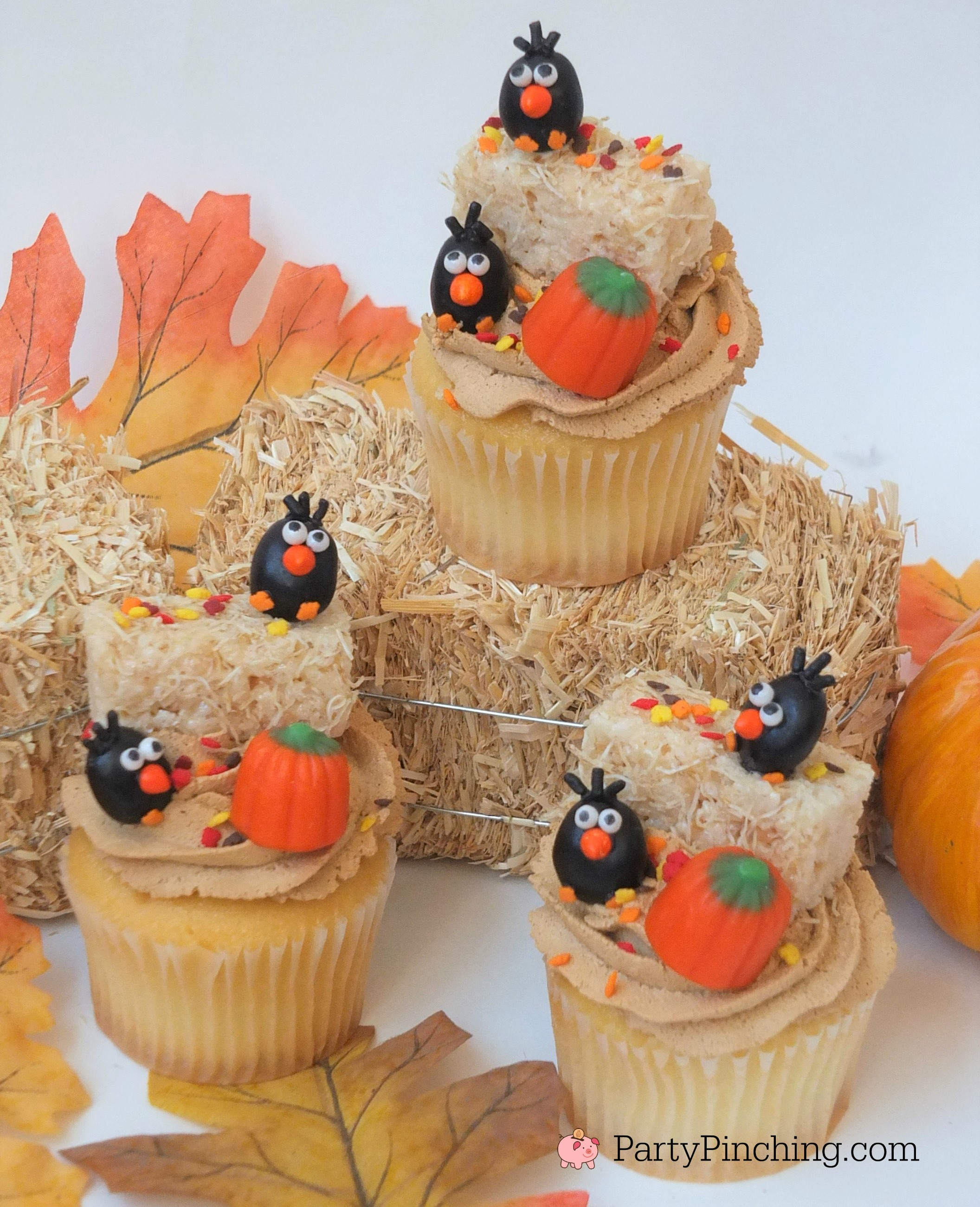 Crow Cupcakes for Harvest, Halloween, Fall, Autumn ...