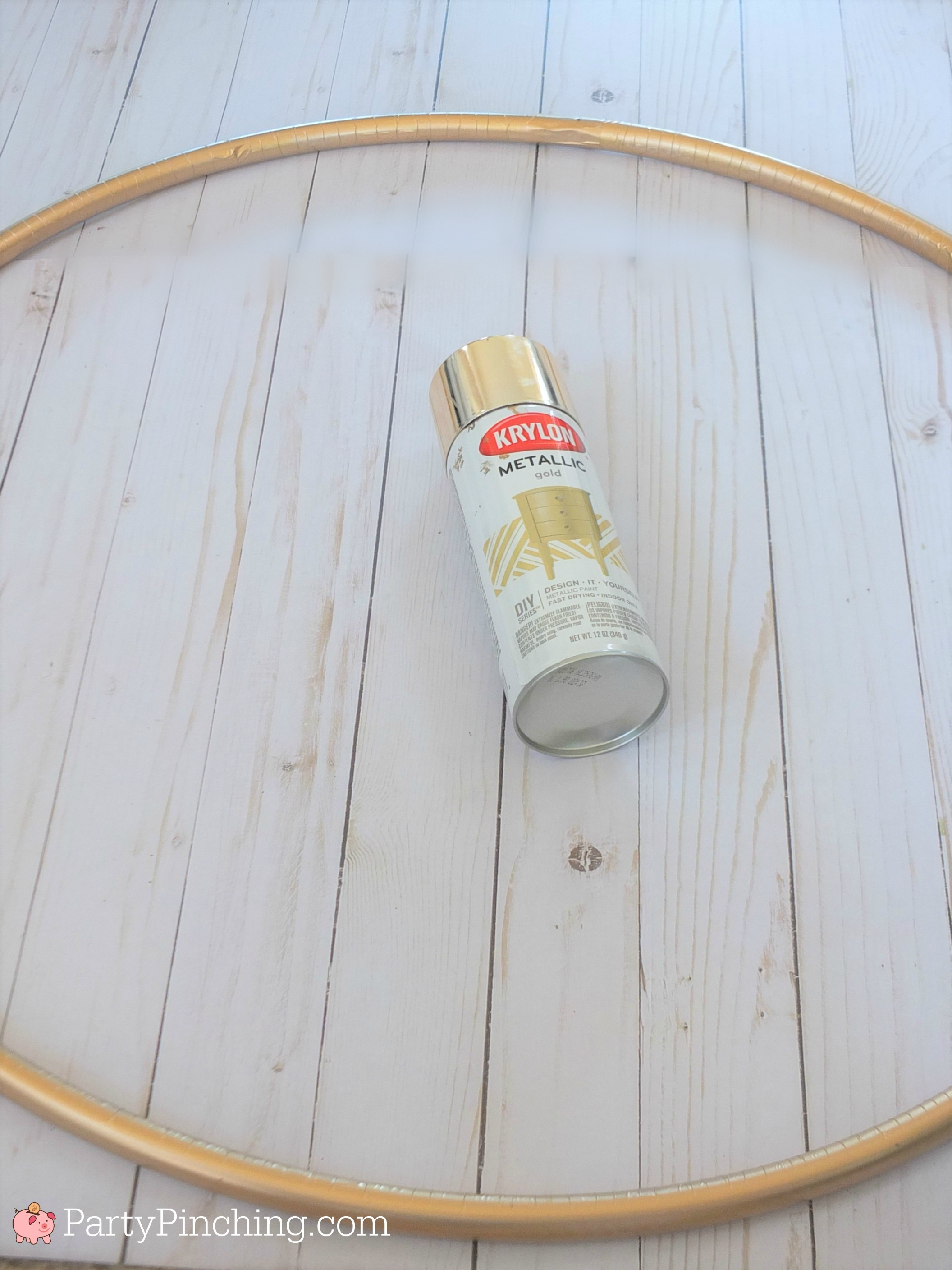 Diy Hula Hoop Wreath With Photos Is Beautiful And Easy On