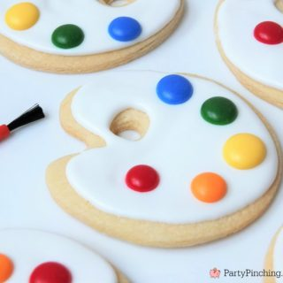 Art palette cookies