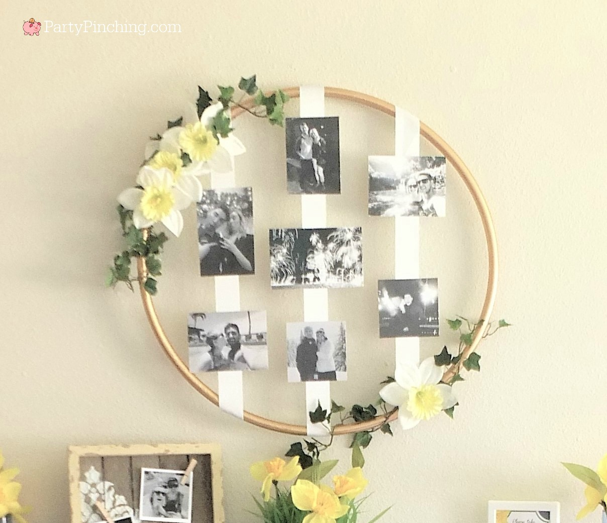 DIY Hula Hoop Wreath with photos is beautiful and easy on ...