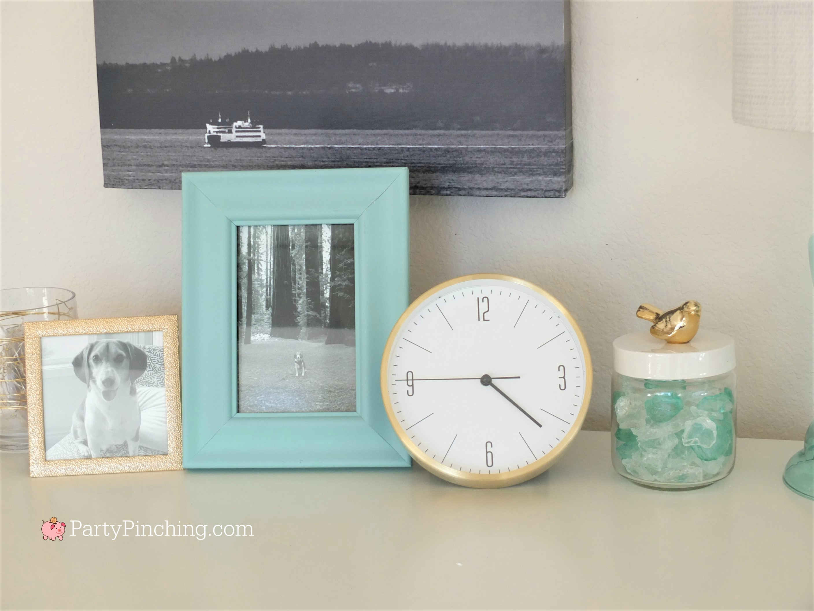 Tiffany Blue Home Office Makeover Gold Accents Pretty