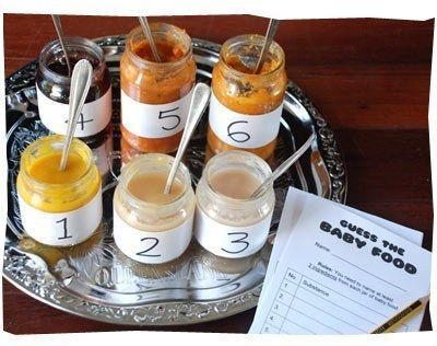 baby food jar tasting game, baby shower ideas, cute baby shower, best baby shower ideas, baby shower cake, fun games for baby shower, baby shower food