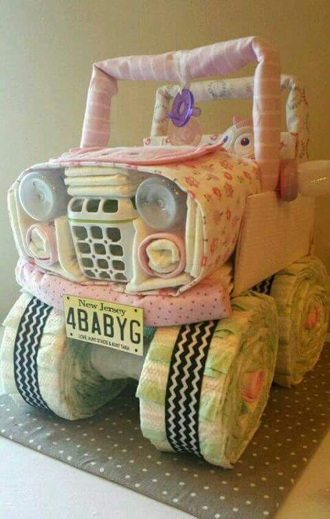jeep diaper cake, baby shower ideas, cute baby shower, best baby shower ideas, baby shower cake, fun games for baby shower, baby shower food
