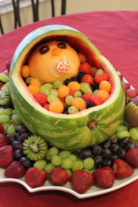 fruit baby, baby shower ideas, cute baby shower, best baby shower ideas, baby shower cake, fun games for baby shower, baby shower food