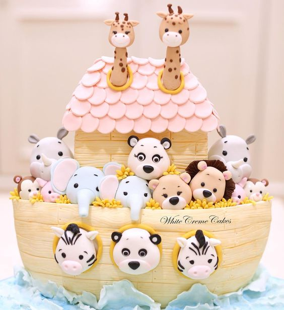 Noah's ark baby shower cake, baby shower ideas, cute baby shower, best baby shower ideas, baby shower cake, fun games for baby shower, baby shower food