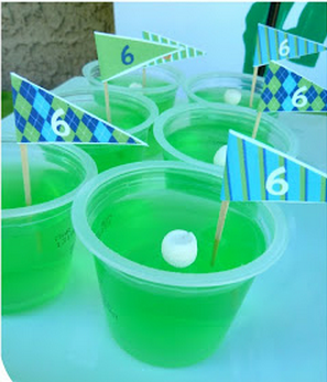 golf theme food, golf party ideas, Father's Day golf party ideas, golf jello