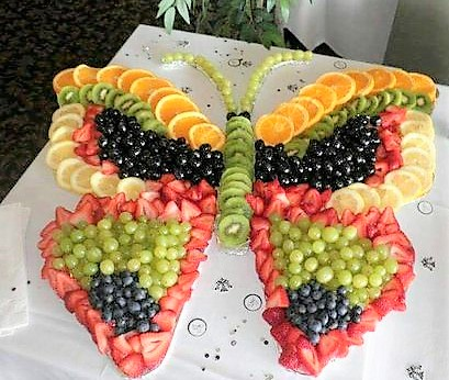Butterfly Fruit Tray, Spring Fruit Tray, Baby Shower Food, Beach Ball Fruit  Tray