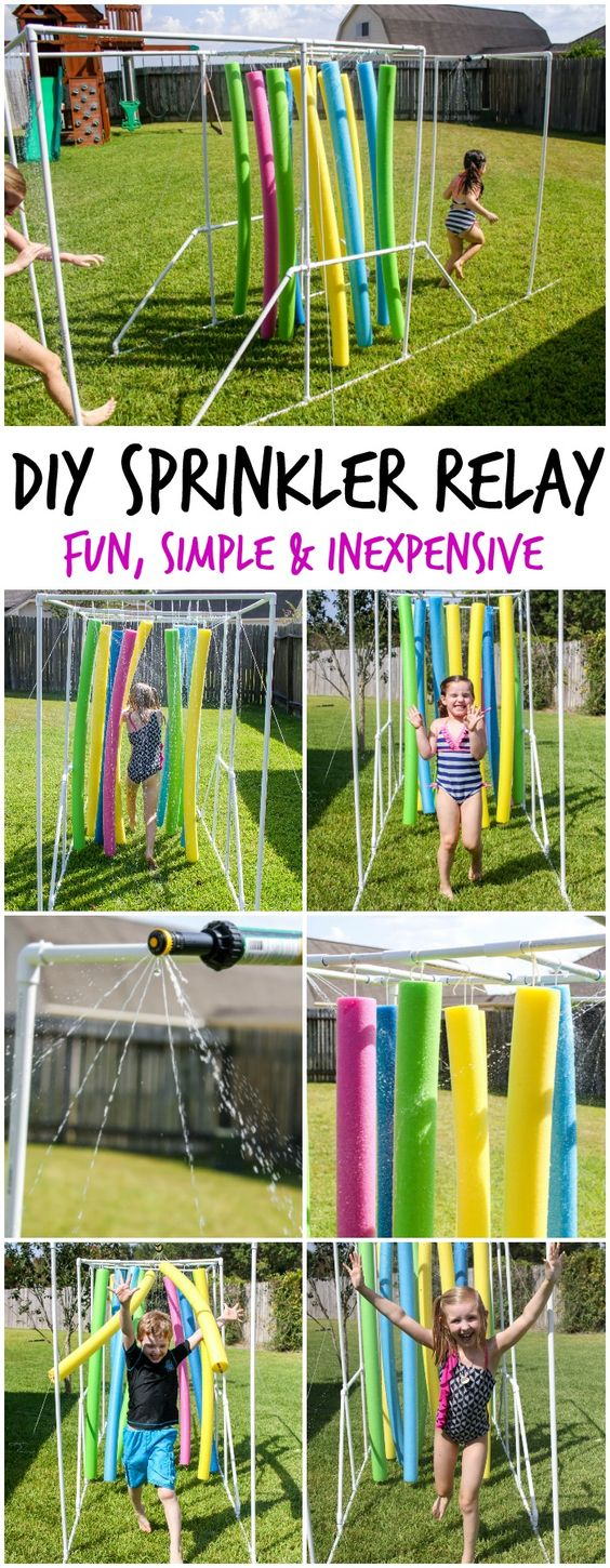 diy sprinkler relay, awesome ideas to keep kids busy summer, backyard party ideas , Best summer backyard games and outdoor activities for kids, diy summer projects for kids,fun ideas for kids summer , fun summer ideas for children, lots of summer activities for kids, outdoor games for summer,