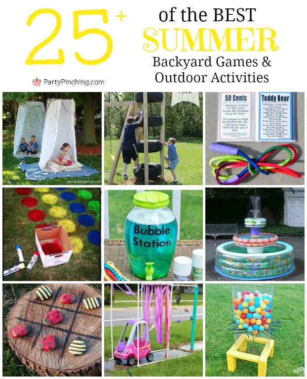 Ideas For Backyard Parties: Best Summer Backyard Games And Outdoor Activities For Kids