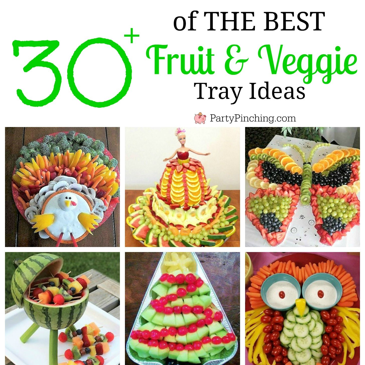 The BEST Fruit & Veggie Tray Ideas Roundup - Party Pinching