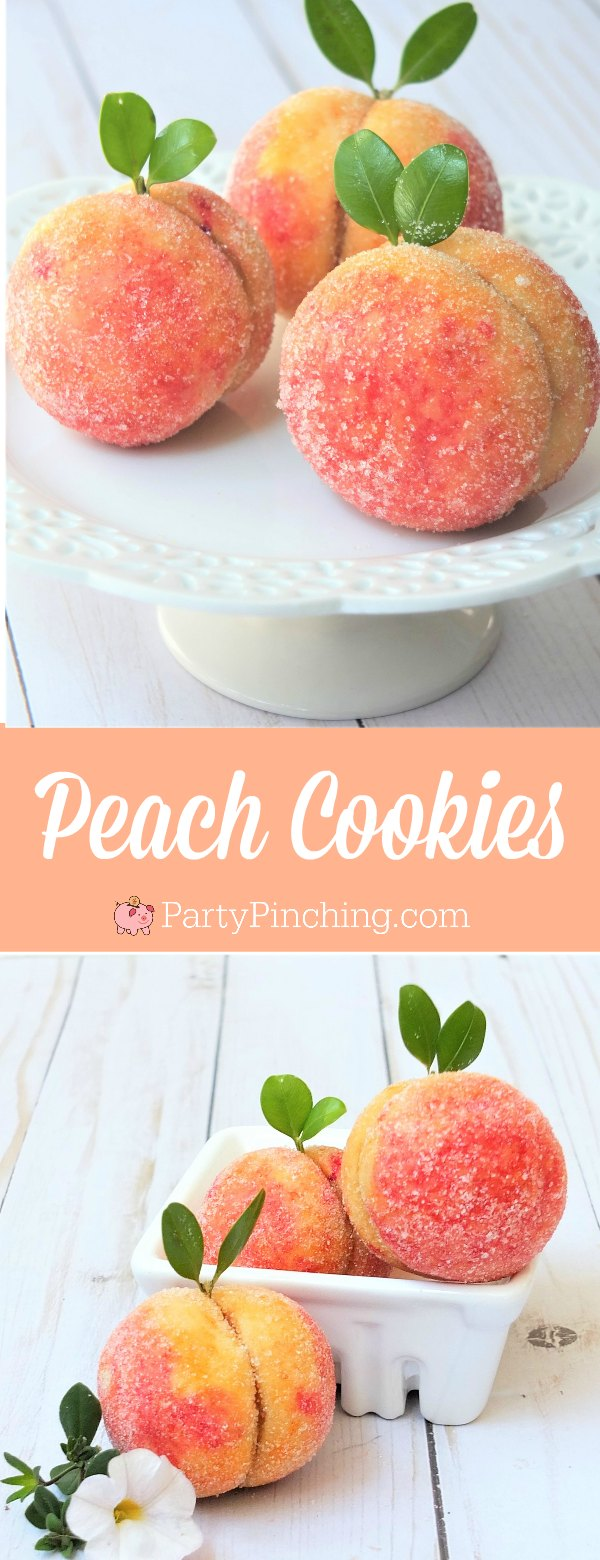 peach cookies, cute summer cookies, Georgia peach cookies, Russian peach cookies, peach sugar cookies, cookies look like peaches, summer dessert picnic potluck food ideas