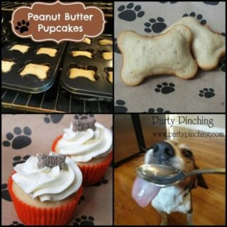Peanut butter pupcakes, homemade dog treats, human grade dog treats, healthy dog treats