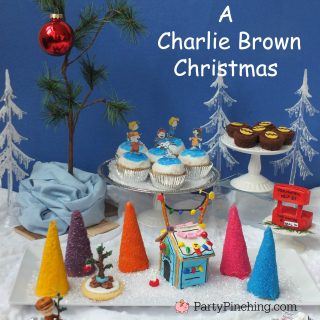 A Charlie Brown Christmas, Snoopy gingerbread dog house, cute Peanuts theme Christmas party ideas for kids