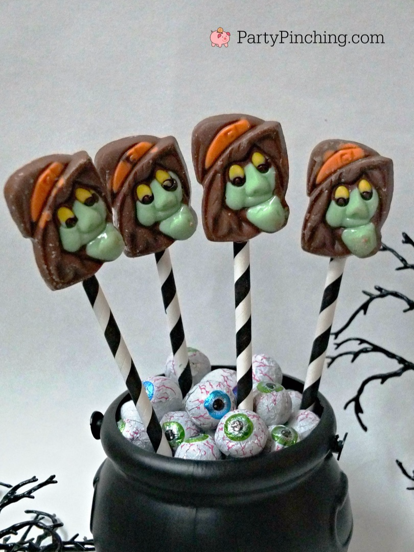 Chocolate Witch Pops Amp Peanut Butter Cup Brooms Party