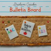 back to school snack, graham cracker bulletin board, fun food for kids, after school snack ideas, lunch ideas for kids, cute food