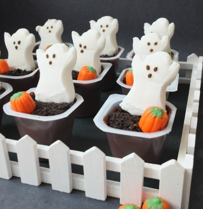 Graveyard Pudding Cups Best Easy Halloween Dessert Kids