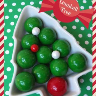 gumball Christmas tree, cute food, sweet treats, fun holiday food for kids