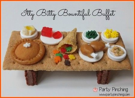 Itty Bitty Bountiful Buffet Party Pinching