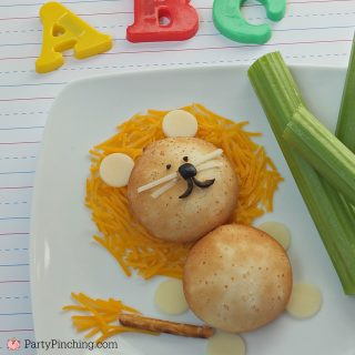 Back to school snack, lion mozzarella snack, cute food, fun food for kids, after school snack ideas, lunch ideas for kids, Farm Rich snacks