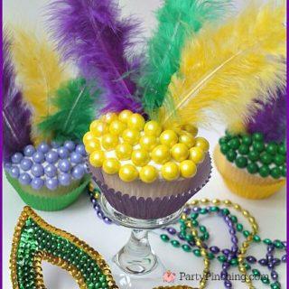 mardi gras cupcakes, mardi gras party ideas, mardi gras dessert ideas, sweetworks candy cupcakes