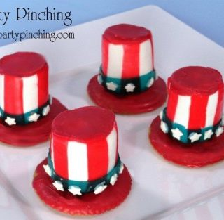 Patriotic Marshmallow Hats