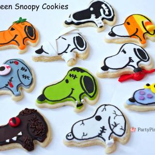 Halloween Snoopy Cookies