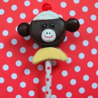 Sock Monkey Marshmallow Pop