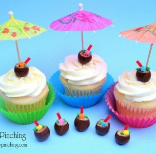 Tropical Drink Cupcake Toppers