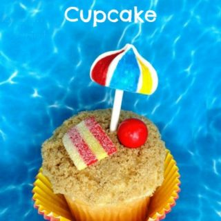 Beach Umbrella Cupcake