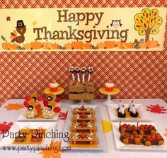 Thanksgiving desserts, easy Thanksgiving dessert ideas for kids, fun food for kids, cute food, Thanksgiving treat snack ideas