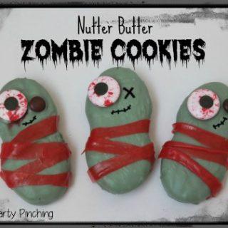 zombie halloween cookies, zombie theme party, nutter butter zombie cookies, cute zombie dessert, easy zombie treats zombie snack